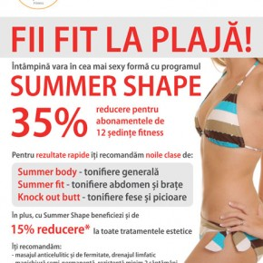 Oferta Summer Shape la sala-concept B.Energy Body & Mind Fitness