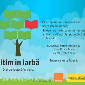 Duminică avem program în Herăstrău: Citim în iarbă și facem schimb de cărți